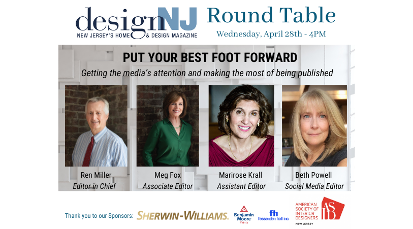 Design NJ Round Table - April 28, 2021 @ 4PM